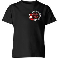 Fa La La La La Kids' T-Shirt - Black - 7-8 Years - Black from The Christmas Collection