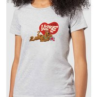 Scooby Doo It's No Mystery I Love You Women's T-Shirt - Grey - M - Grey from Scooby Doo