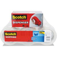 "3850 Heavy-Duty Packaging Tape, 1.88"" x 54.6yds, 3"" Core, Clear, 6/Pack from Scotch"