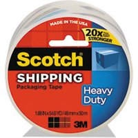 "3850 Heavy-Duty Packaging Tape, 1.88"" x 54.6yds, 3"" Core, Clear from Scotch"