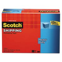 "3850 Heavy-Duty Packaging Tape Cabinet Pack, 1.88"" x 54.6yds, 3"" Core, 18/Pack from Scotch"