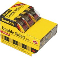 "665 Double-Sided Permanent Tape in Hand Dispenser, 1/2"" x 250"", Clear, 3/Pack from Scotch"