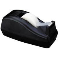 "Deluxe Desktop Tape Dispenser, Attached 1"" Core, Heavily Weighted, Black from Scotch"