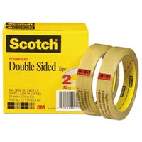"Double-Sided Tape, 3/4"" x 1296"", 3"" Core, Transparent, 2/Pack from Scotch"