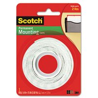 "Foam Mounting Double-Sided Tape, 1/2"" Wide x 75"" Long from Scotch"