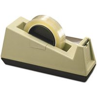 "Heavy-Duty Weighted Desktop Tape Dispenser, 3"" Core, Plastic, Putty/Brown from Scotch"
