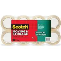 "Moving & Storage Tape Premium Thickness, 1.88"" x 60 yds, 3"" Core, Clear, 8/Pack from Scotch"