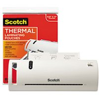 "Thermal Laminator Value Pack, 9"" W, with 20 Letter Size Pouches from Scotch"