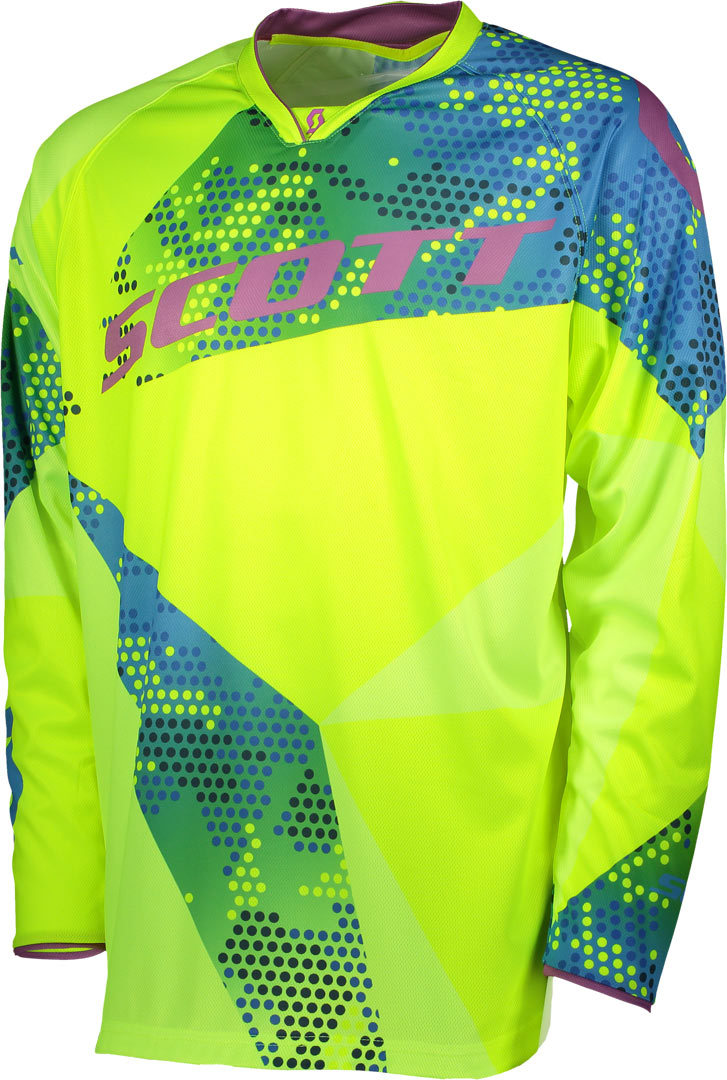 Scott 350 Race Motocross Jersey 2018, blue-yellow, Size L, blue-yellow, Size L from Scott