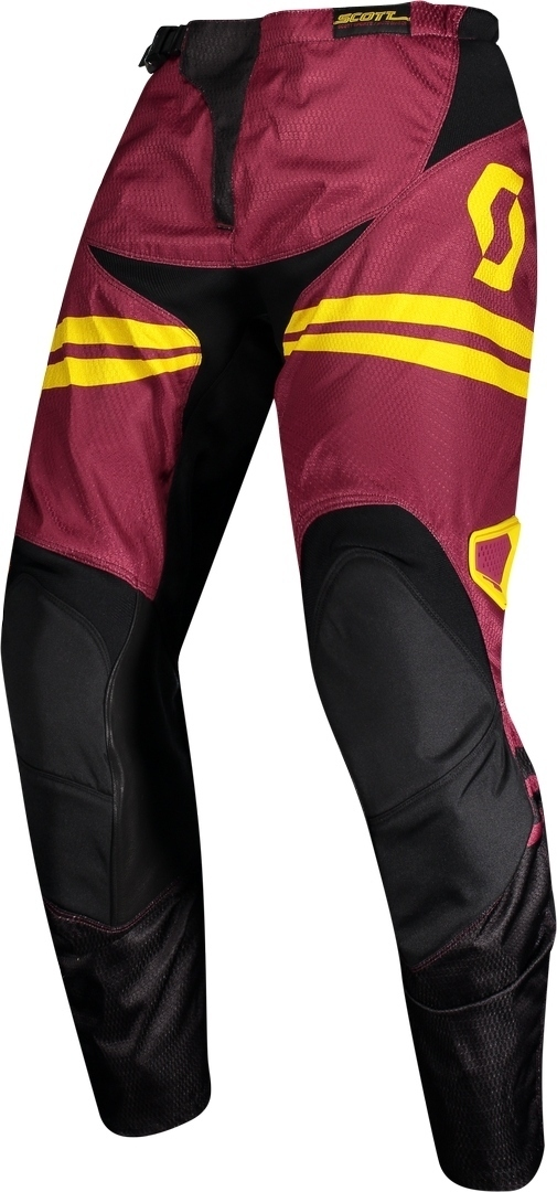 Scott 350 Race Regular Motocross Pants, red-yellow, Size 38, red-yellow, Size 38 from Scott