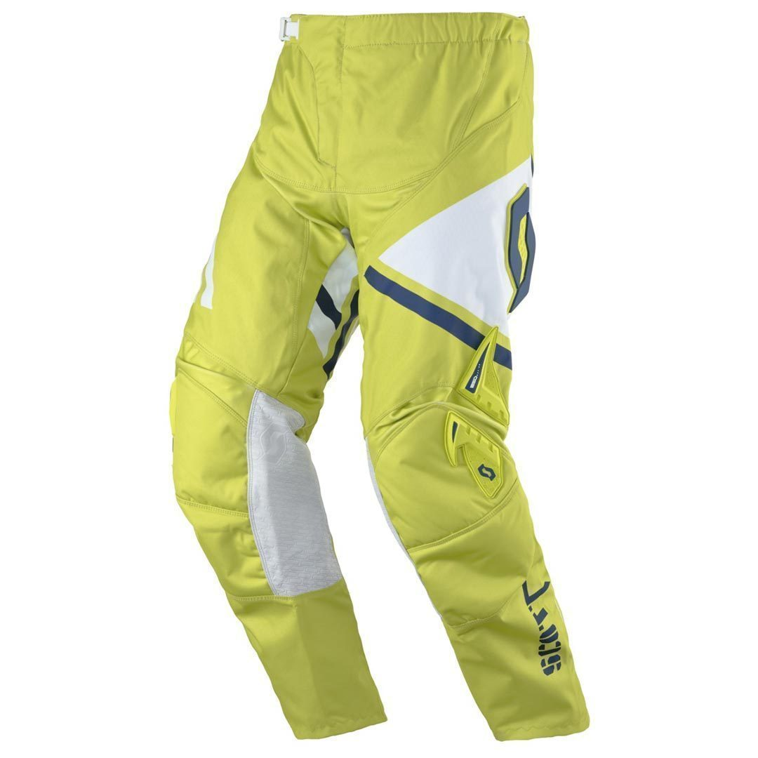 Scott 350 Track Motocross Pants, white-green, Size 34, white-green, Size 34 from Scott