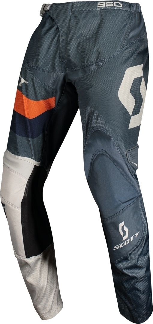 Scott 350 Track Regular Motocross Pants, blue-orange, Size 28, blue-orange, Size 28 from Scott