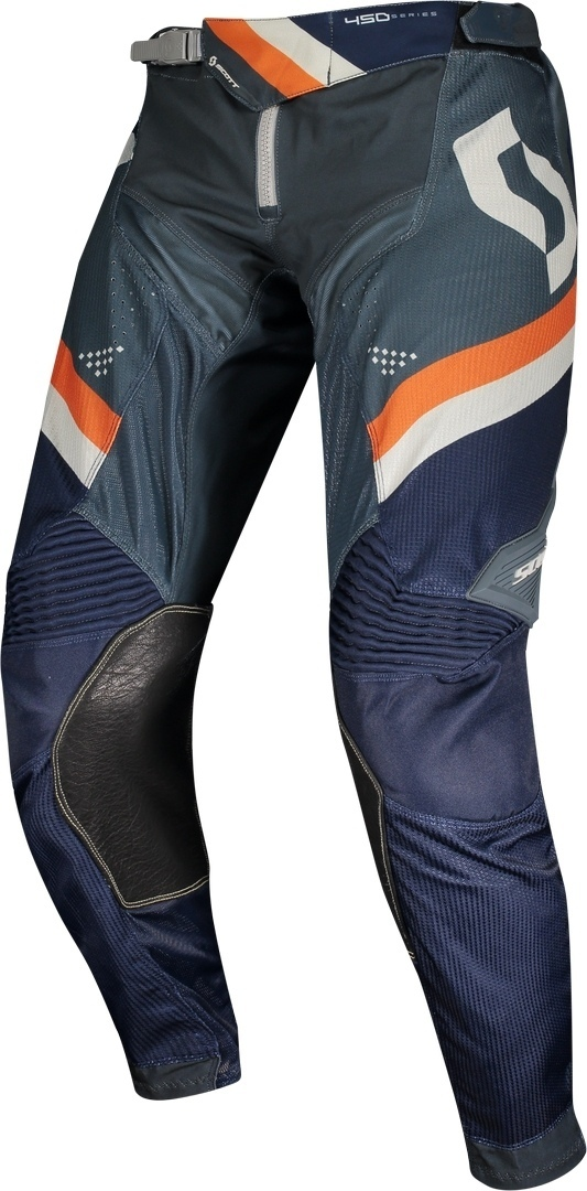 Scott 450 Podium Athletic Light Motocross Pants, blue-orange, Size 34, blue-orange, Size 34 from Scott