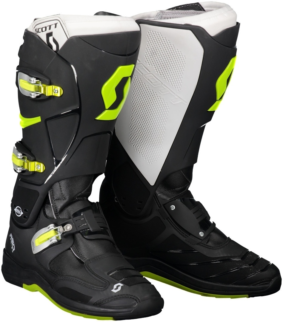 Scott 550 Motocross Boots, black-yellow, Size 41, black-yellow, Size 41 from Scott