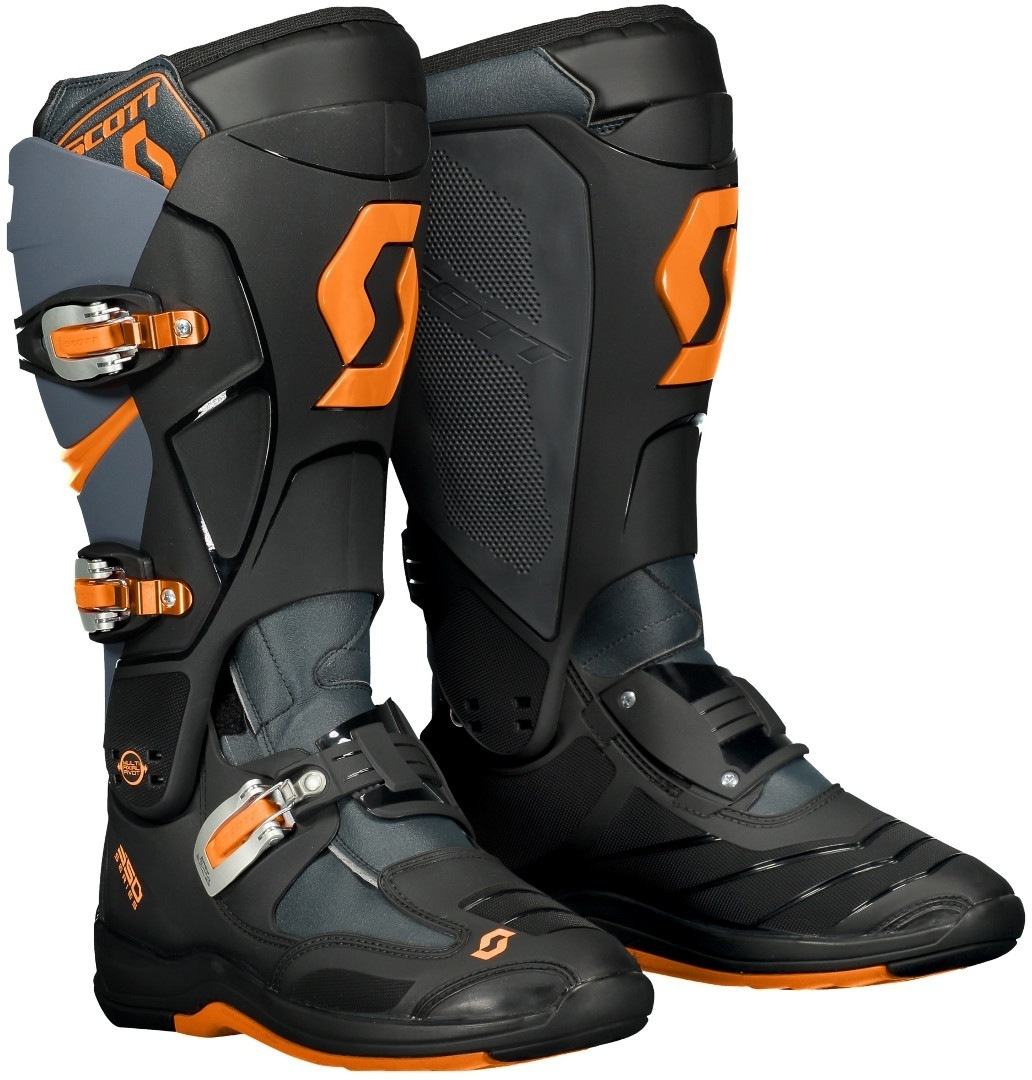 Scott 550 Motocross Boots, grey-orange, Size 48, grey-orange, Size 48 from Scott