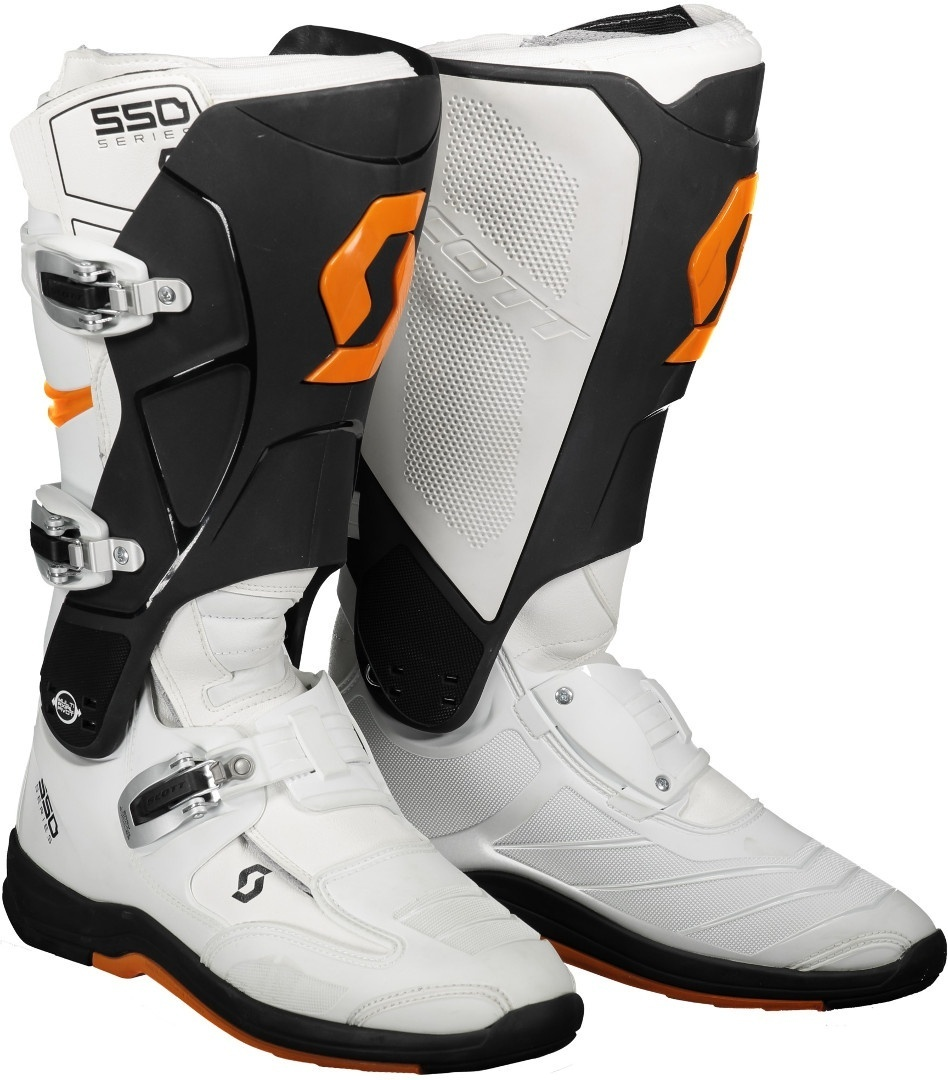 Scott 550 Motocross Boots, white-orange, Size 41, white-orange, Size 41 from Scott