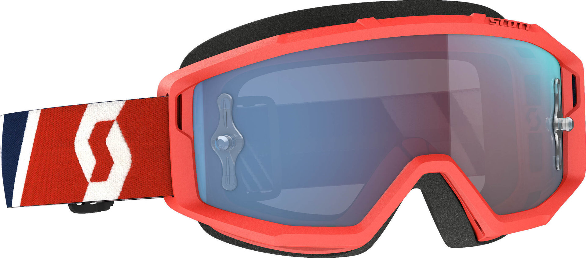 Scott Primal red/blue Motocross Goggles, blue-red, blue-red, Size One Size from Scott