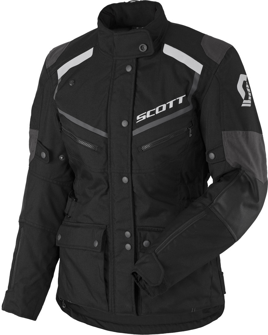 Scott Turn ADV DP Ladies Motorcycle Textile Jacket, black-grey, Size 42 for Women, black-grey, Size 42 for Women from Scott
