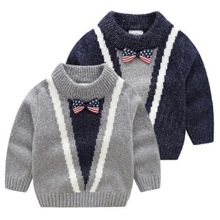 Kids Color-Panel Sweater from Seashells Kids