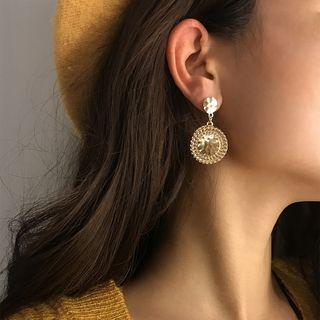 Alloy Disc Dangle Earring from Seirios