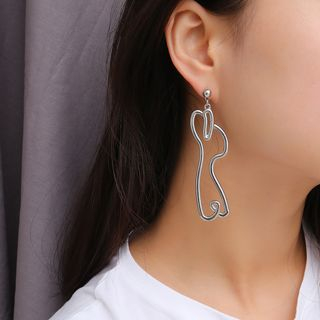 Alloy Rabbit Dangle Earring from Seirios
