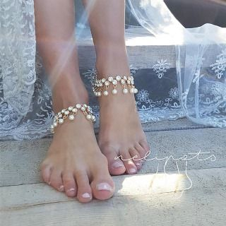 Beaded Fringed Anklet from Seirios