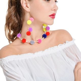Bobble Beaded Choker / Earrings from Seirios