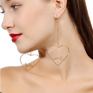 Cutout Sweetheart Hook Earrings from Seirios