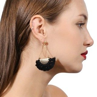 Fringed Fan Shape Earrings from Seirios