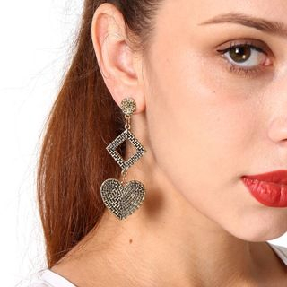 Geometric Heart Earrings from Seirios