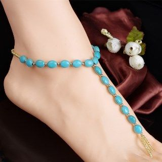 Jeweled Anklet With Toe Ring from Seirios