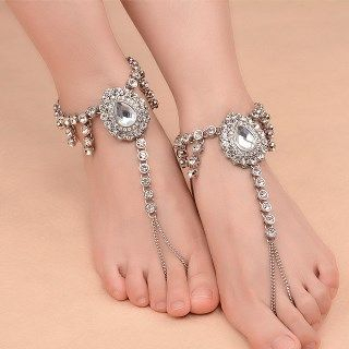 Jeweled Loop-Toe Anklet from Seirios