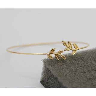 Leaf-Accent Bangle from Seirios