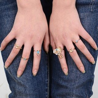 Patterned Ring Set from Seirios