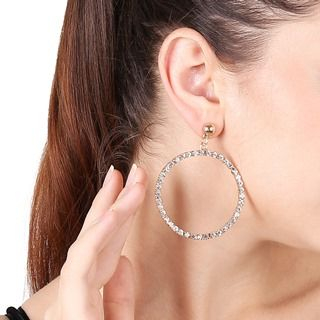 Rhinestone Cicle Drop Earrings from Seirios