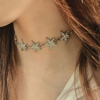 Rhinestone Star Choker from Seirios