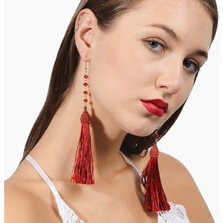 Tassel-Drop Crystal Earrings from Seirios