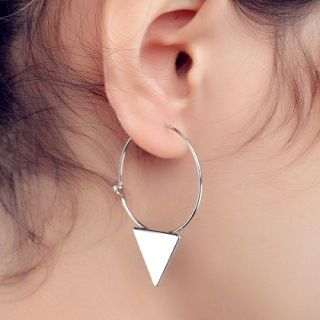 Triangle Drop Earrings from Seirios