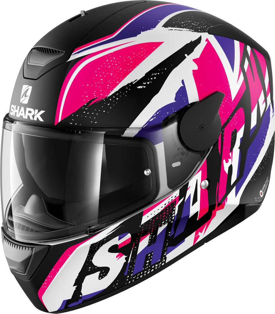 Shark D-Skwal Ujack Helmet, black-white-pink, Size XS for Women, black-white-pink, Size XS for Women from Shark