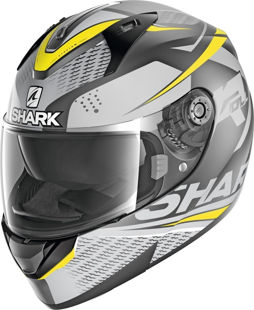 Shark Ridill Stratom Mat Helmet, grey-yellow, Size M, grey-yellow, Size M from Shark