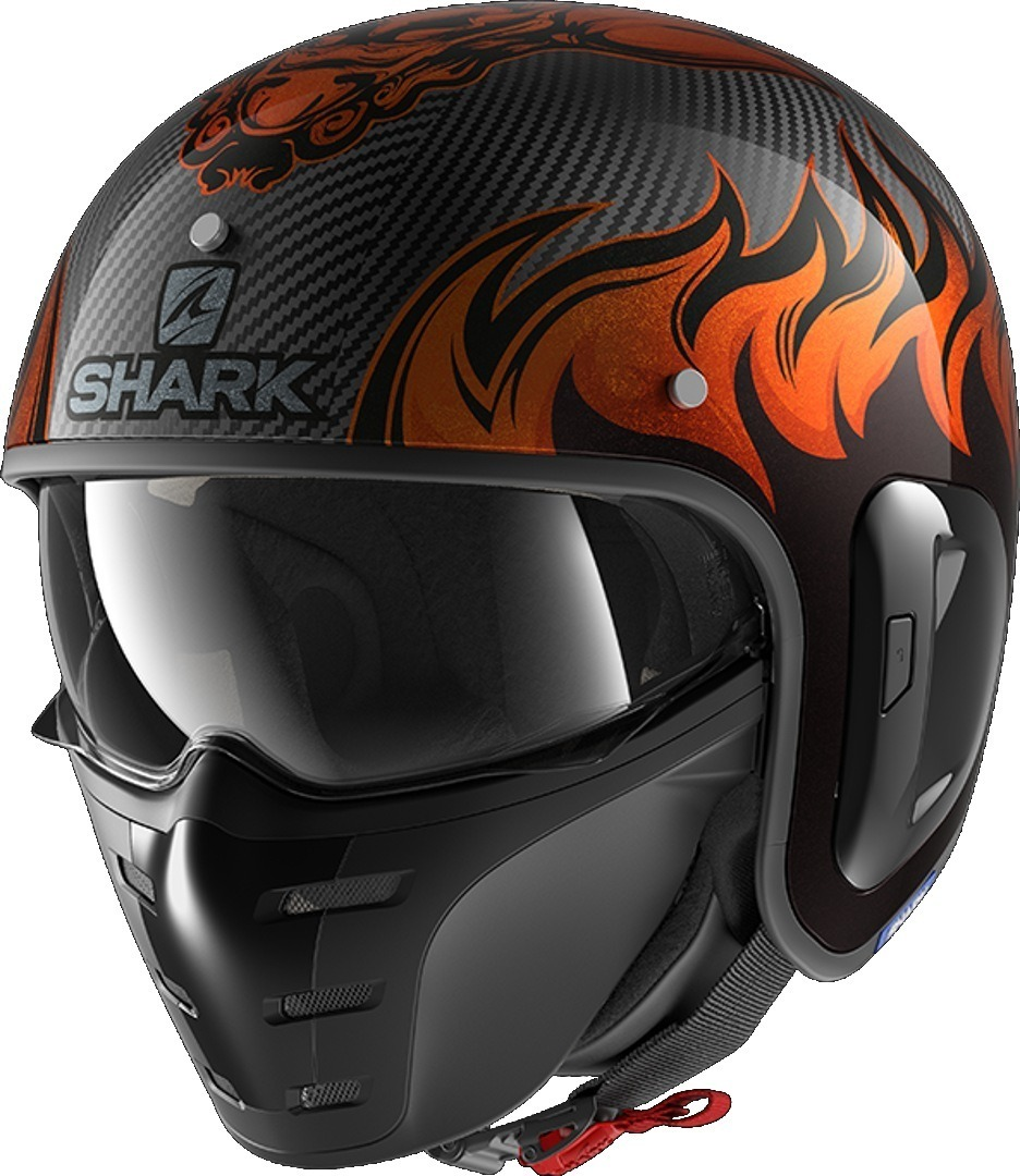 Shark S-Drak 2 Dagon Carbon Jet Helmet, black-orange, Size XS, black-orange, Size XS from Shark