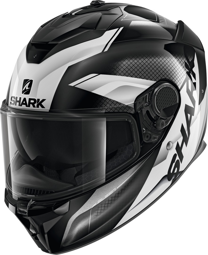 Shark Spartan GT Elgen Helmet, black-white, Size S, black-white, Size S from Shark