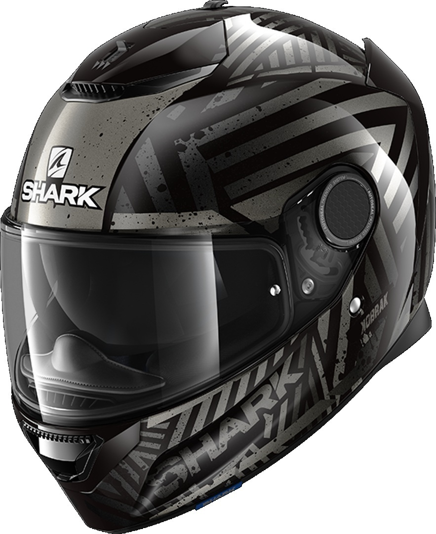Shark Spartan Kobrak Helmet, black-grey, Size XS, black-grey, Size XS from Shark