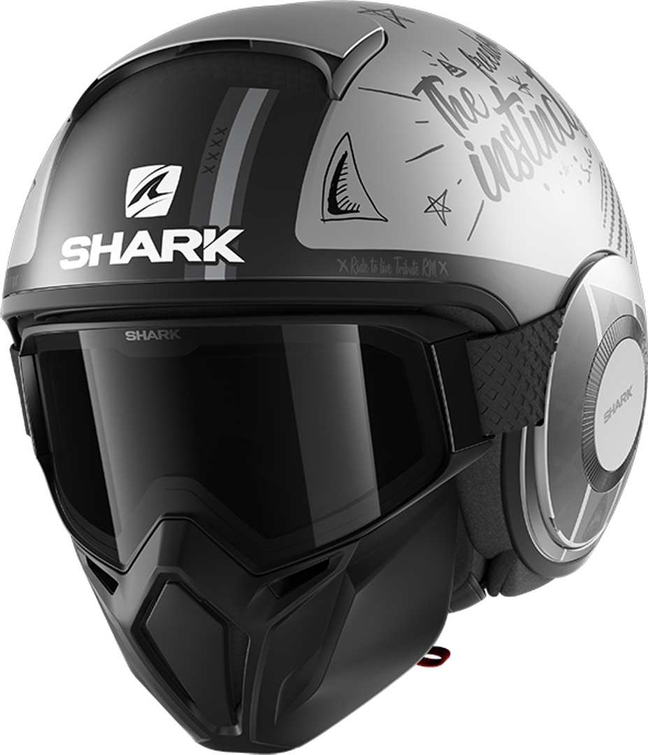 Shark Street-Drak Tribute RM Jet Helmet, grey, Size XS, grey, Size XS from Shark