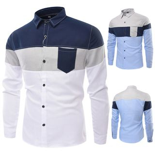 Color Block Shirt from Sheck