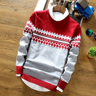 Color Block Sweater from Sheck