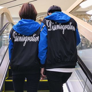Couple Matching Lettering Windbreaker from Sheck