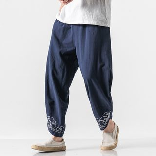Embroidered Cropped Harem Pants from Sheck