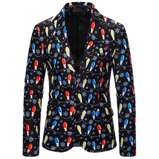 Light Bulb Print Single-Breasted Blazer from Sheck