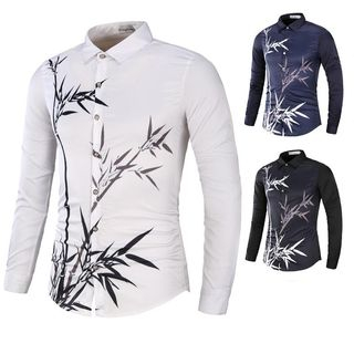 Long Sleeve Bamboo Print Shirt from Sheck